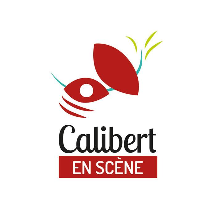 """Logo créé  pour l'association """"Le Calibert en scène""""  aussi utilisé pour la salle de spectacle Le Calibert (qui signifie poil à gratter en patois)"""