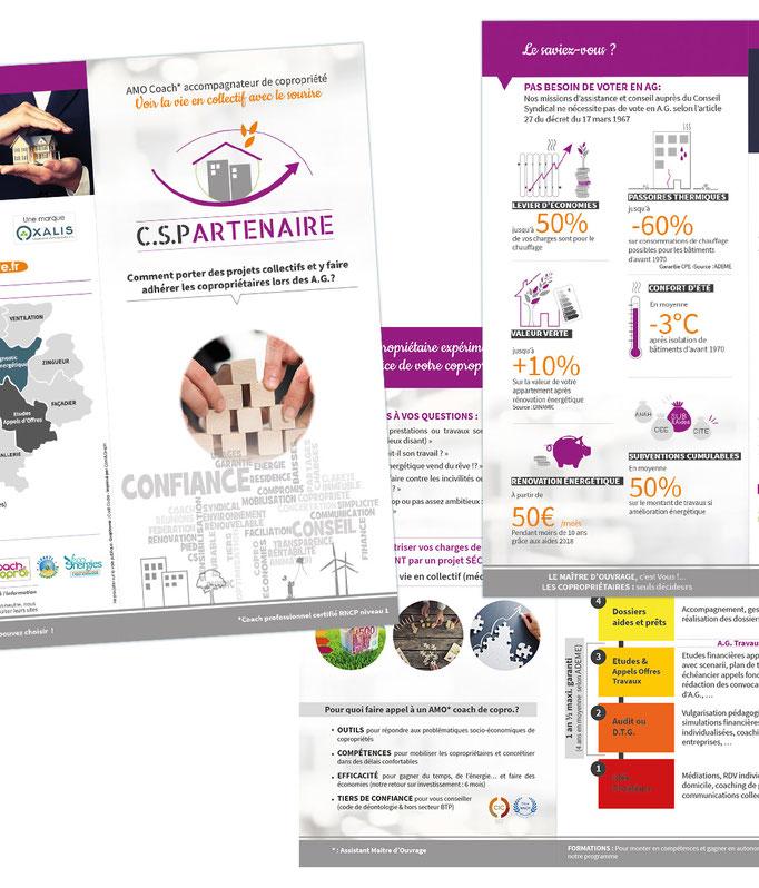 Extrait de la plaquette pour la société CSPartenaire