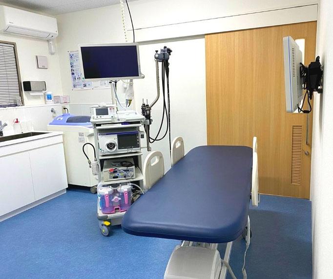 内視鏡検査後に麻酔が効いている状態でも、ストレッチャー(移動式内視鏡用ベッド)に乗ったまま、起きることなく点滴スペースに移動できます。