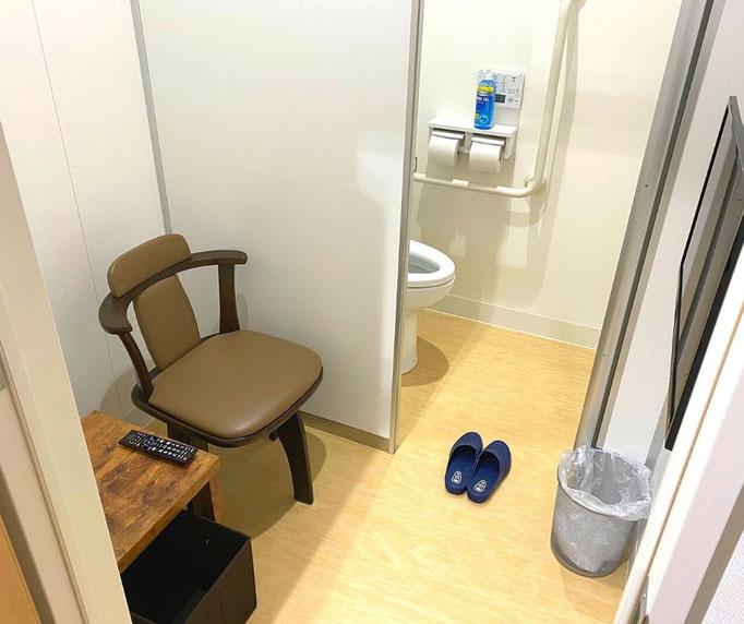 大腸内視鏡の前の前処置薬を飲むトイレ付個室(通称マイトイレ)を、たなべ内科クリニックでは2部屋用意しています。