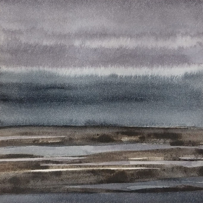 'Promenade' no.11 / 15x15 cm / aquarelle on paper