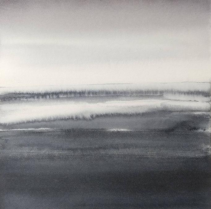 'Promenade' no.8 / 15x15 cm / aquarelle on paper