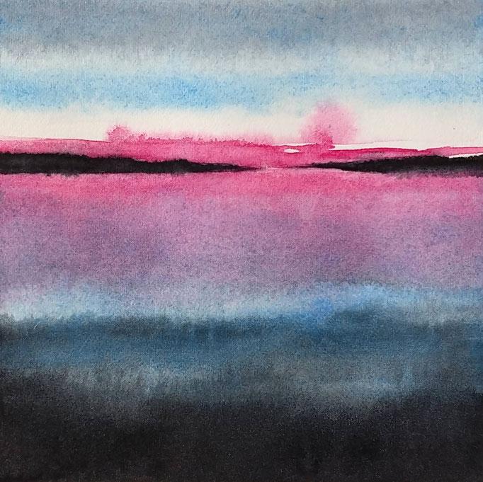 'Promenade' no.12 / 15x15 cm / aquarelle on paper