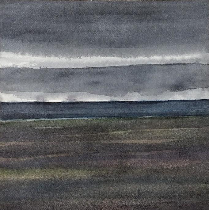 'Promenade' no.10 / 15x15 cm / aquarelle on paper