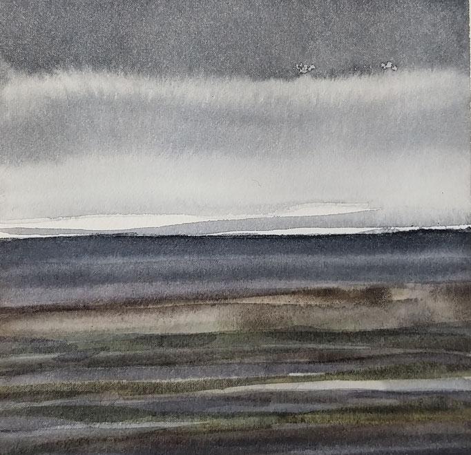 'Promenade' no.9 / 15x15 cm / aquarelle on paper