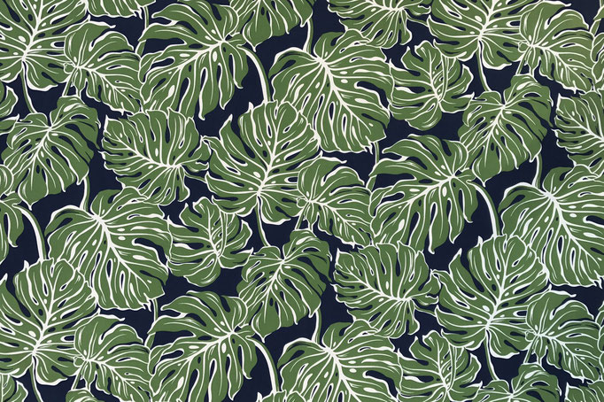 Monstera jungle green navy