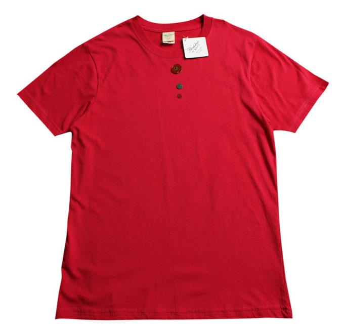 ⑤ボタン(赤シャツ・サイズXS)