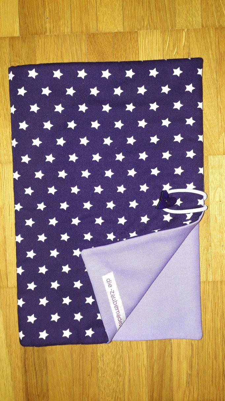 Wickeltasche, lila mit Sternen