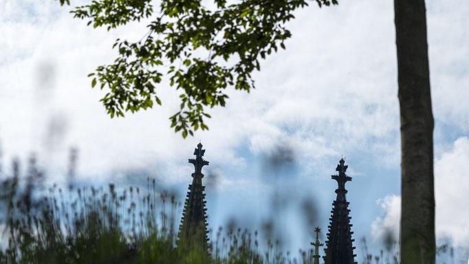 Turmspitzen mit Leiter