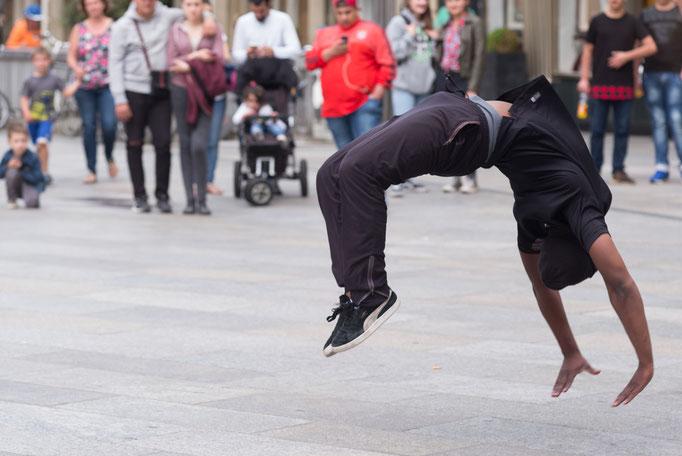 Breakdance auf der Domplatte