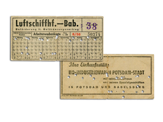 Arbeiterwochenkarte von 1958