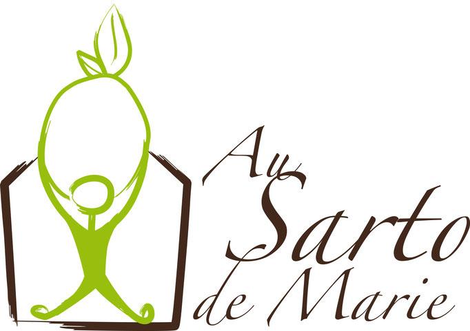 """Soutien logistique régulier et création du logo de l'association """"Au Sarto de Marie"""", groupement d'achats de produits biologiques et locaux en Combe de Savoie"""