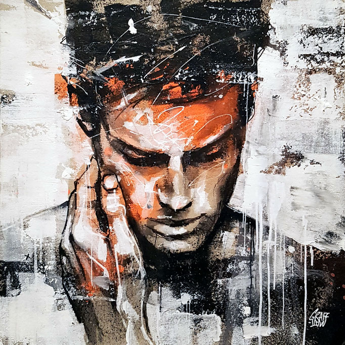 "<b>FORGIVE ME</b><br>25 x 25 cm<br><a style=""color:#db6464;"">Vendu</br></a> <alt=""art artiste peintre contemporain portrait homme model graffiti france streetart savoie chambery graffmatt"">"