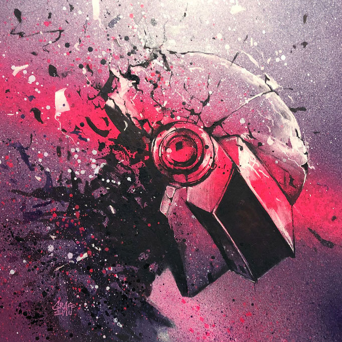 """<b>EPILOGUE</b><br>35x 35 cm<br><a style=""""color:#db6464;"""">Vendu<br><a href=""""https://www.graffmatt.com/contact/mail-tableau"""" ; style=""""color:#49bfc0;"""" target=""""_blank"""">Épreuve d'artiste disponible</a><alt=""""art daft punk electro music french touch graffmatt"""">"""