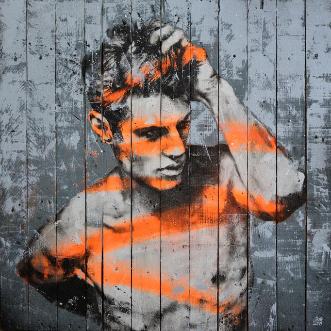 """<b>FIND YOURSELF</b><br>80 x 80 cm<br><a href=""""/app/module/webproduct/goto/m/mb84038a03a81bc6c"""" ; style=""""color:#49bfc0;"""" target=""""_blank"""">Disponible à la vente</b><alt=""""art tableau streetart portrait homme peinture sur bois palette graffmatt"""">"""