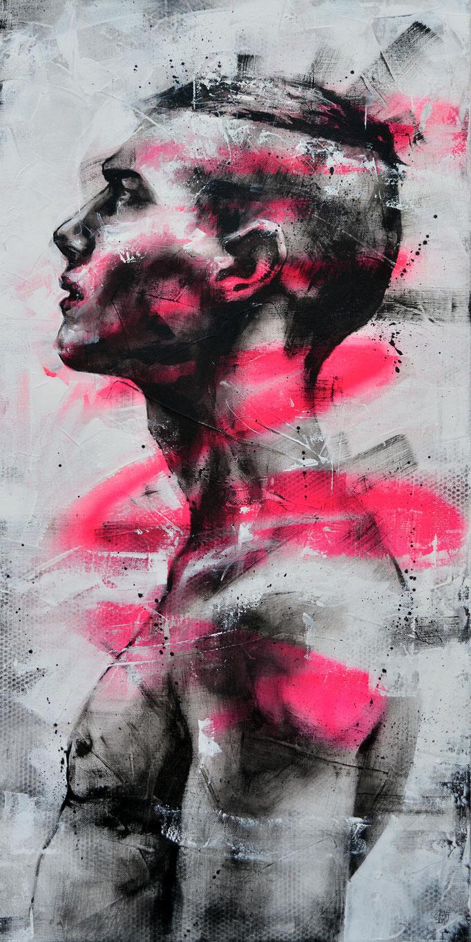 "<b>STANDING MAN</b><br>100 x 50 cm<br><a style=""color:#db6464;"">Vendu</br></a> <alt=""art artiste peintre contemporain portrait homme art urbain france streetart savoie chambery graffiti graffmatt"">"