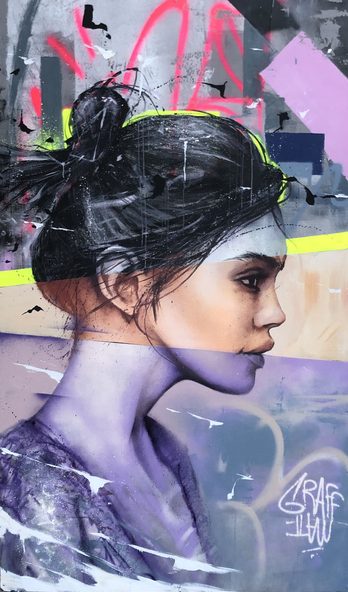 "<b>TOWARDS THE HORIZON</b><br>200 x 100 cm<br><a style=""color:#db6464;"">Vendu</br></a><alt=""graffmatt peinture streetart fresque collective espace malraux chambery Chambéry collectif prec.art.ites_enluttes.chambe portrait femme commande artistique"">"