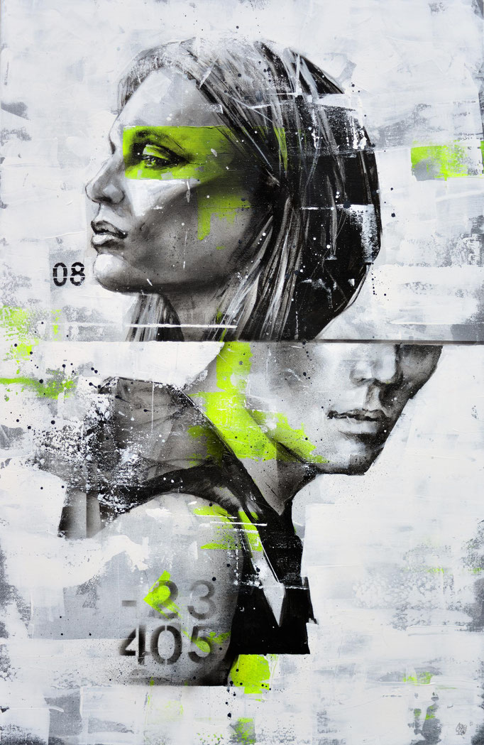 """<b>AT THE CROSSROAD (1)</b><br>100 x 64 cm<br><a href=""""/app/module/webproduct/goto/m/m968d74ee924068b5"""" ; style=""""color:#49bfc0;"""" target=""""_blank"""">Disponible à la vente</b><alt=""""art portrait homme femme glitch effect tableau galerie art chambéry savoie"""">"""