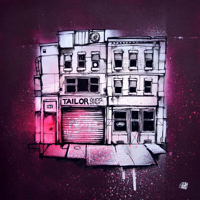 "<b>URBAN BLOCK</b><br>36 x 36 cm<br><a style=""color:#db6464;"">Vendu</br></a> <alt=""art artiste peintre contemporain facade newyork street rue urbain graffiti tableau france streetart savoie chambery graffmatt"">"