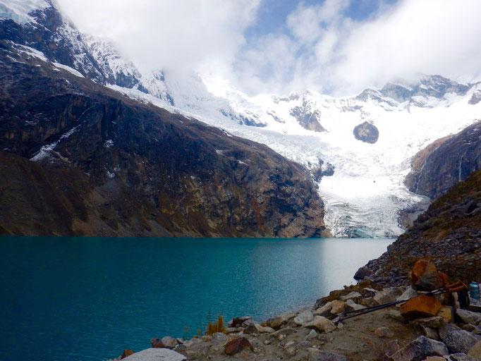 türkisblaue Gletscherlagune