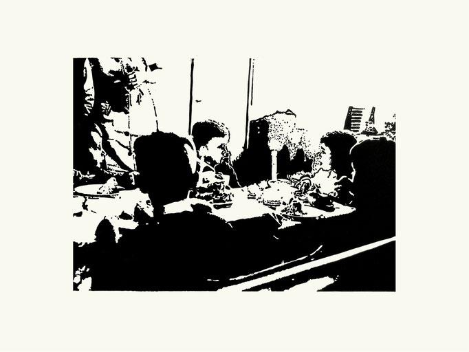 Birthday | 40x 60 cm | Linoldruck auf Papier | 2013