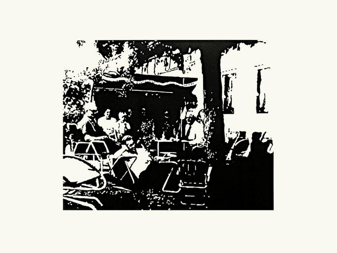 Garten | 40x 60 cm | Linoldruck auf Papier | 2014