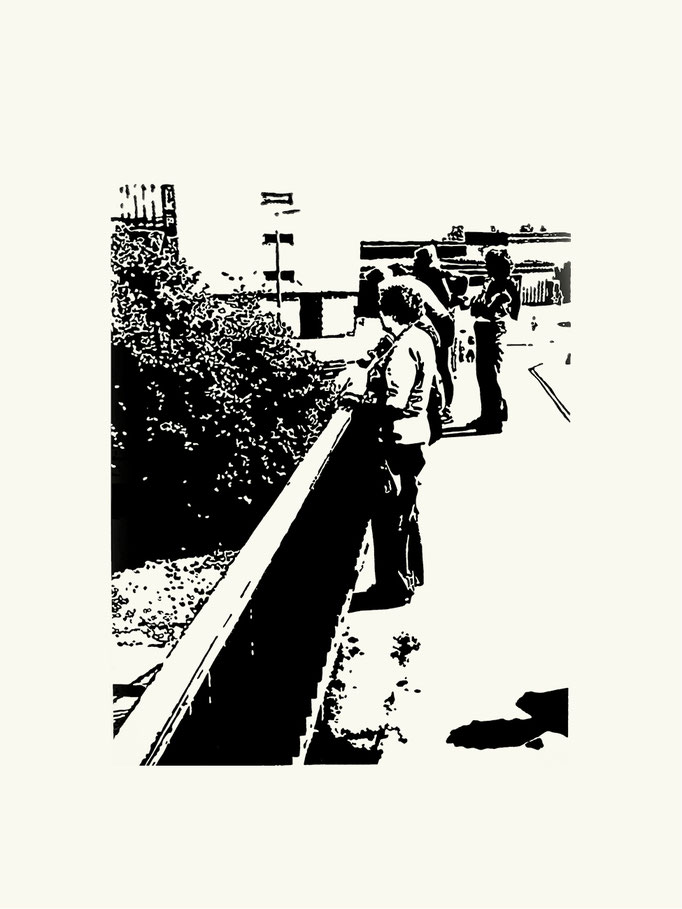 Brücke | 60 x 40 cm | Linoldruck auf Papier | 2013