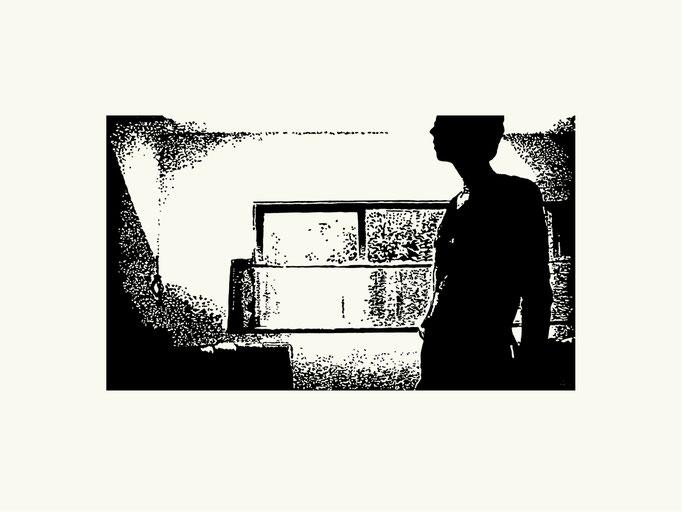 Fenster | 40x 60 cm | Linoldruck auf Papier | 2013