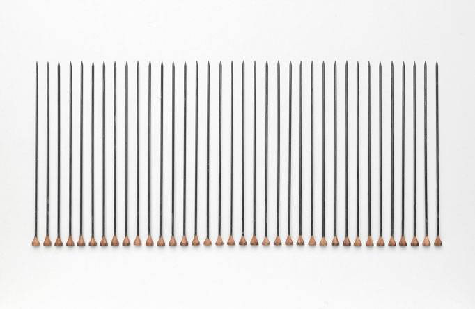 Jürgen Krause, Bleistifte [Pencils], since 2000, detail © Jürgen Krause, photo: Harald Pridgar