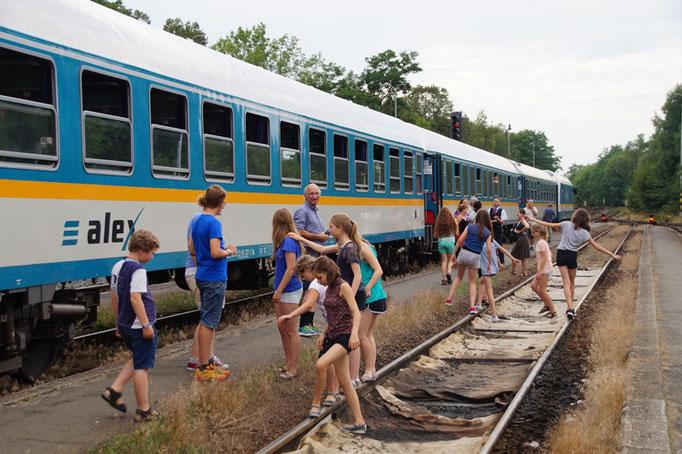 Unfreiwilliger Zugstop in Domazlice