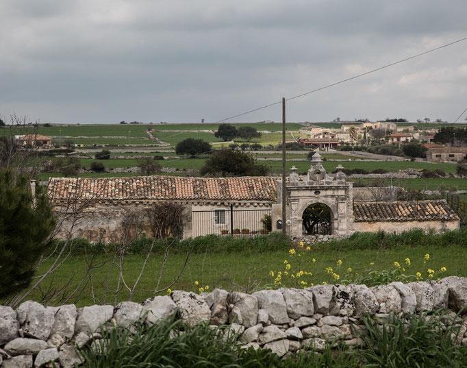 Eine sehr schöne Landschaft in der Gegend von Ragusa