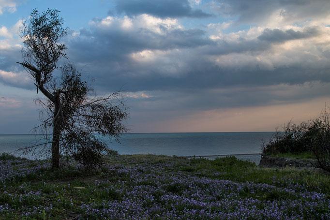 Am Strand von San Marco südlich von Taormina