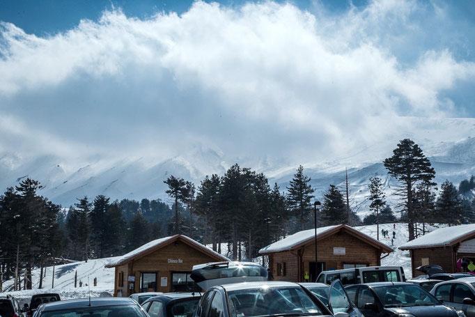 Wintersport am Ätna