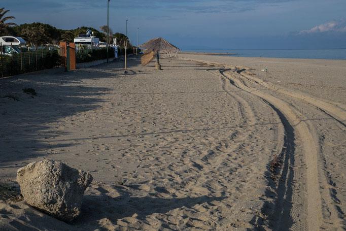 Der Strand im Winter