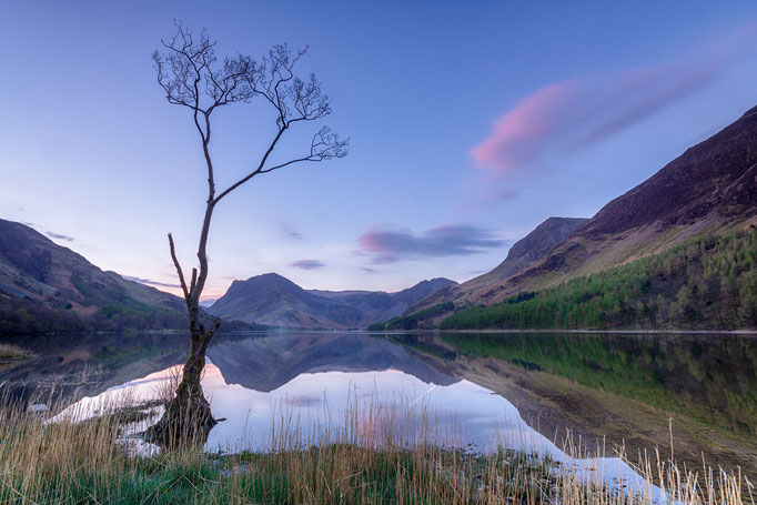 Blue hour Buttermere, Lake District, England