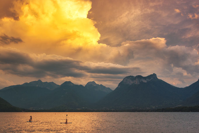 Storm clouds above Lake Annecy