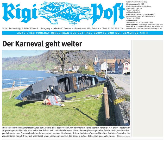Rigi Post vom 05.03.2020 (Frontseite)