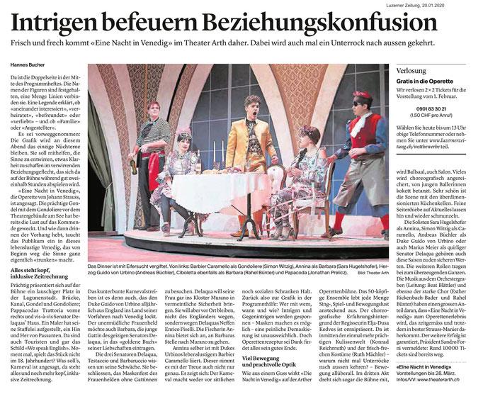 Luzerner Zeitung vom 20.01.2020