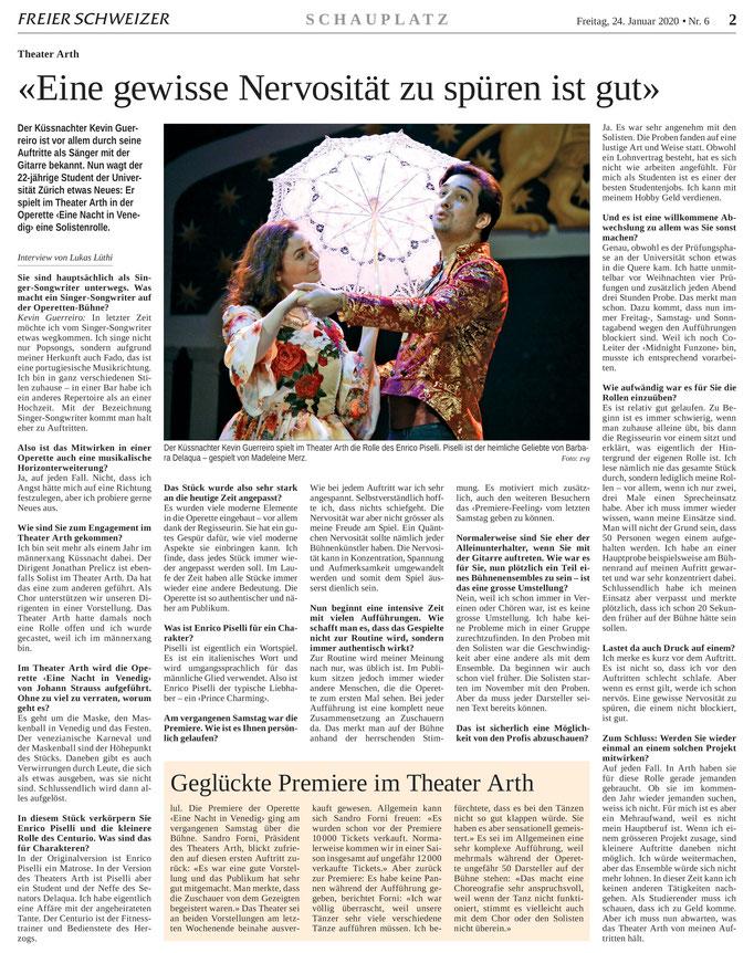 Freier Schweizer vom 24.01.2020 (Berichterstattung)