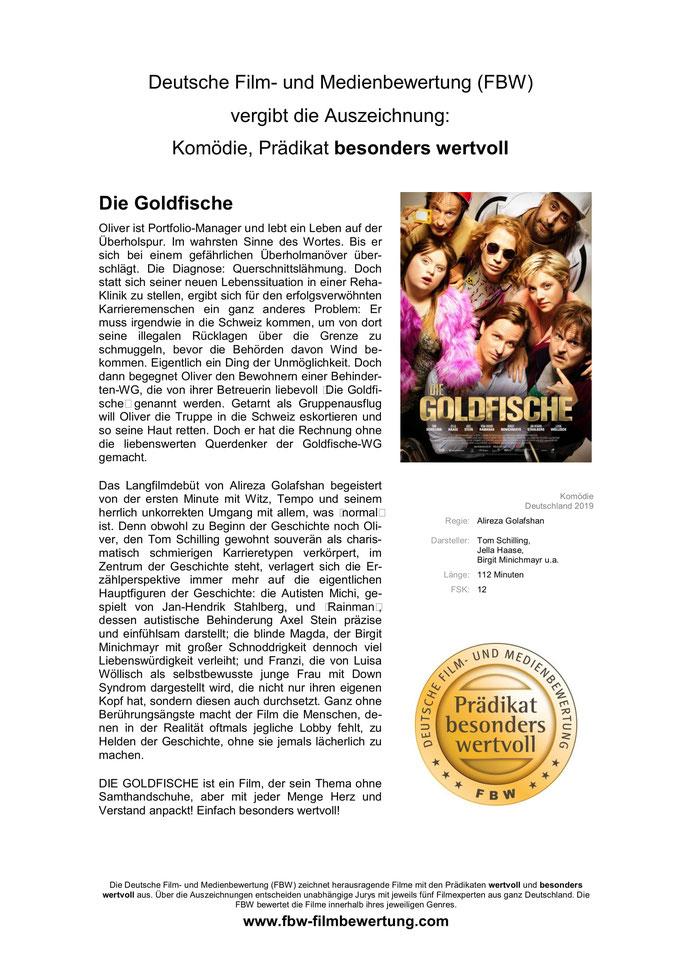 Auszeichnung der Deutschen Film- und Medienbewertung (FBW)