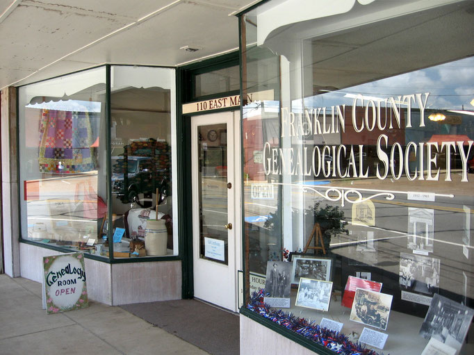 Displays at the Franklin County Genealogical Society