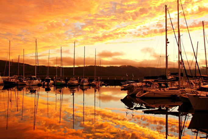Knysna Harbor Sundown by Ralf Mayer