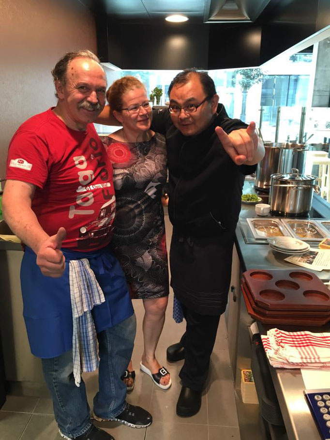 Xiao Wang, Sandra und Simon voll motiviert