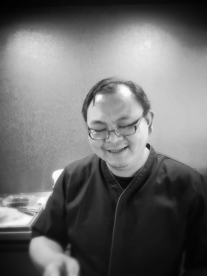 Teppanyaki Meisterkoch Xiao Wang bereits am Freitag Vormittag in seinem Element