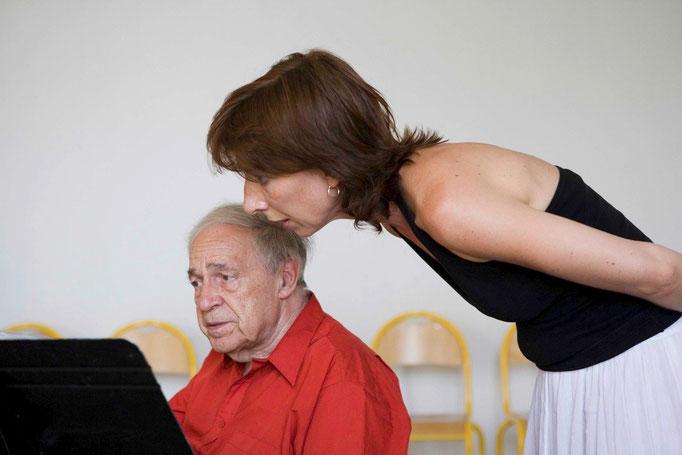 Pierre Boulez et Emmanuelle Ophele