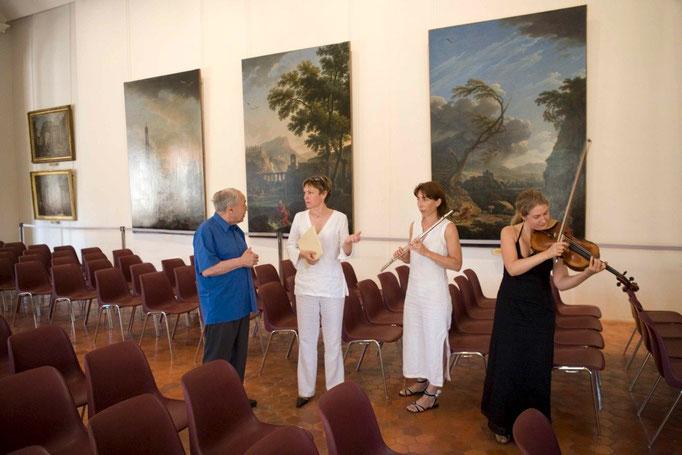 Pierre Boulez et le trio Antara