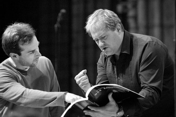 Fabien Gabel et Paul Groves à Saint Denis