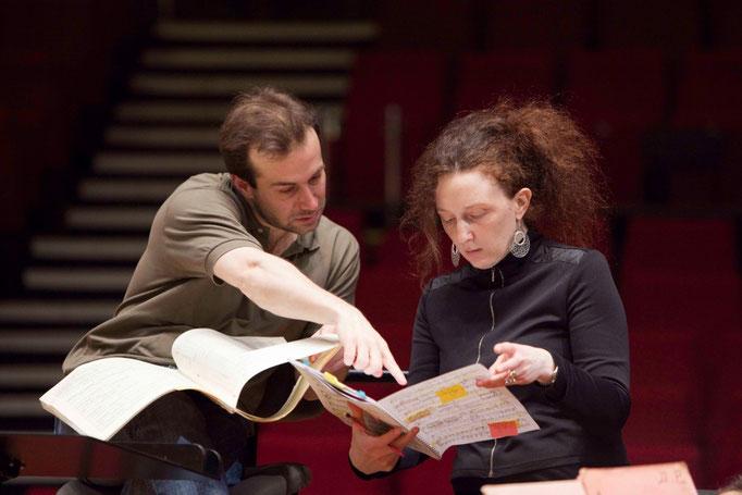 Fabien Gabel et Nora Gubitsch à Radio-France
