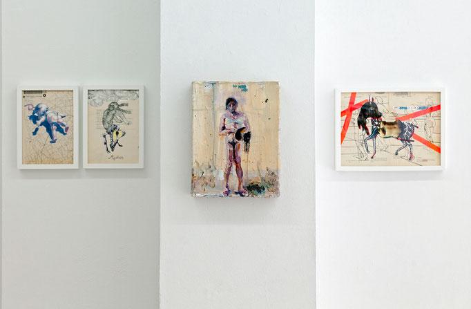 Cornelia Renz · Back, 2016 und Mythos, 2016 | Gerard Waskievitz · das, 2018 | Cornelia Renz · Mama Pferd, 2016
