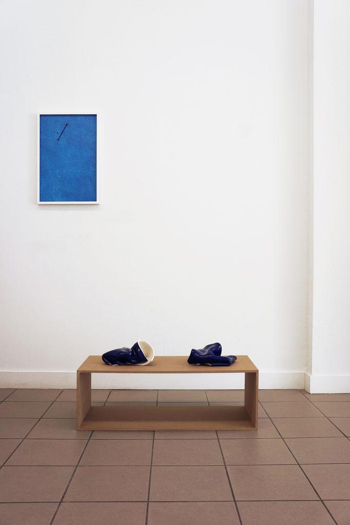 "Jessica Backhaus ""Note 01"" 2010–2011 · Gabriele Künne ""Blaues Paar"" 2017–19"
